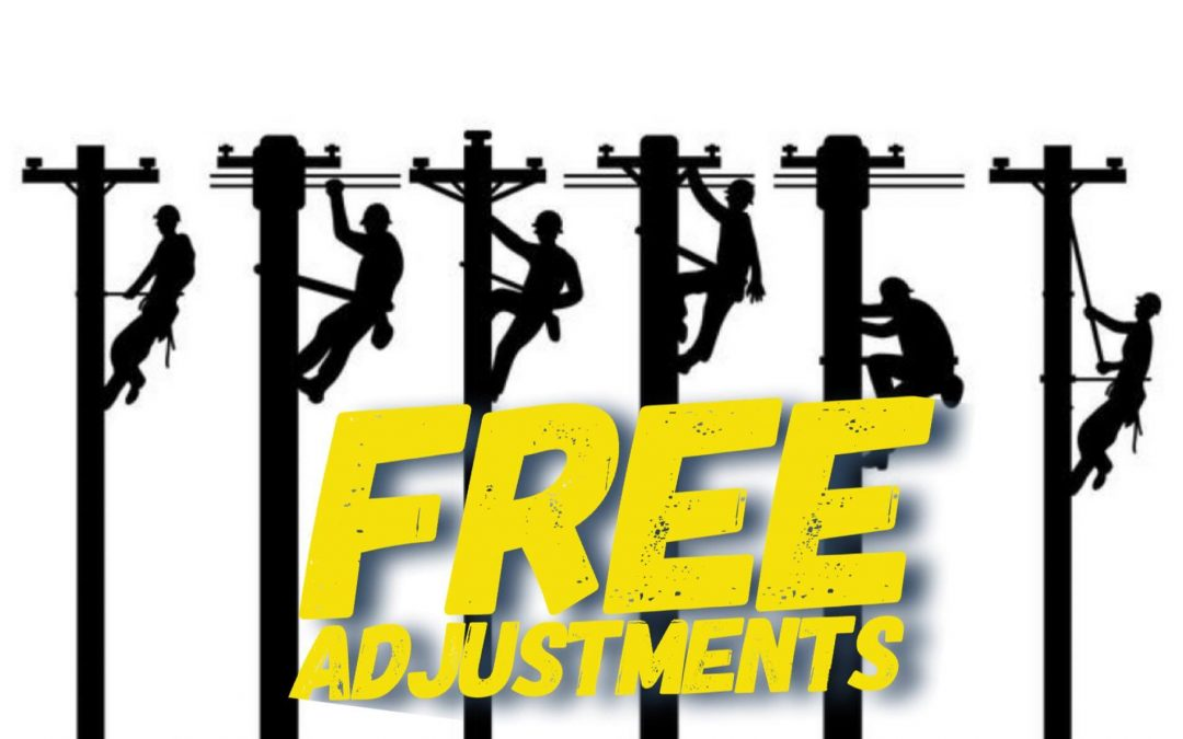 Free Adjustments to All Area Linemen & Utility Workers