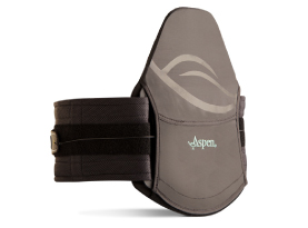 Medical-grade back support brace, touted as being great for post-operative patients that need lateral support and relief from back pain from surgery or an injury.