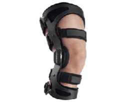 We keep lumbar supports in stock. The knee braces we offer are custom fit and must be ordered. Your doctor can tell you if you will benefit from one of these braces.